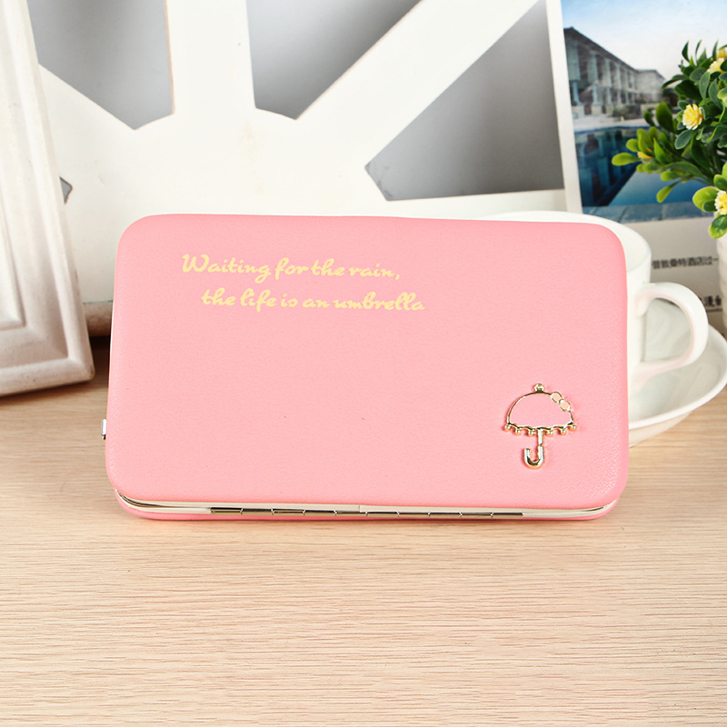 PU Leather Long Wallets Letter Women Wallets Portable Casual Lady Cash Purse Card Holder ...