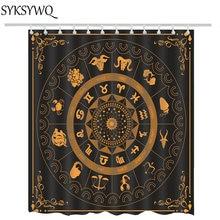 Twelve Constellation Shower Curtain Black Bohemia Gypsy Divination Bathroom Curtains BathChina