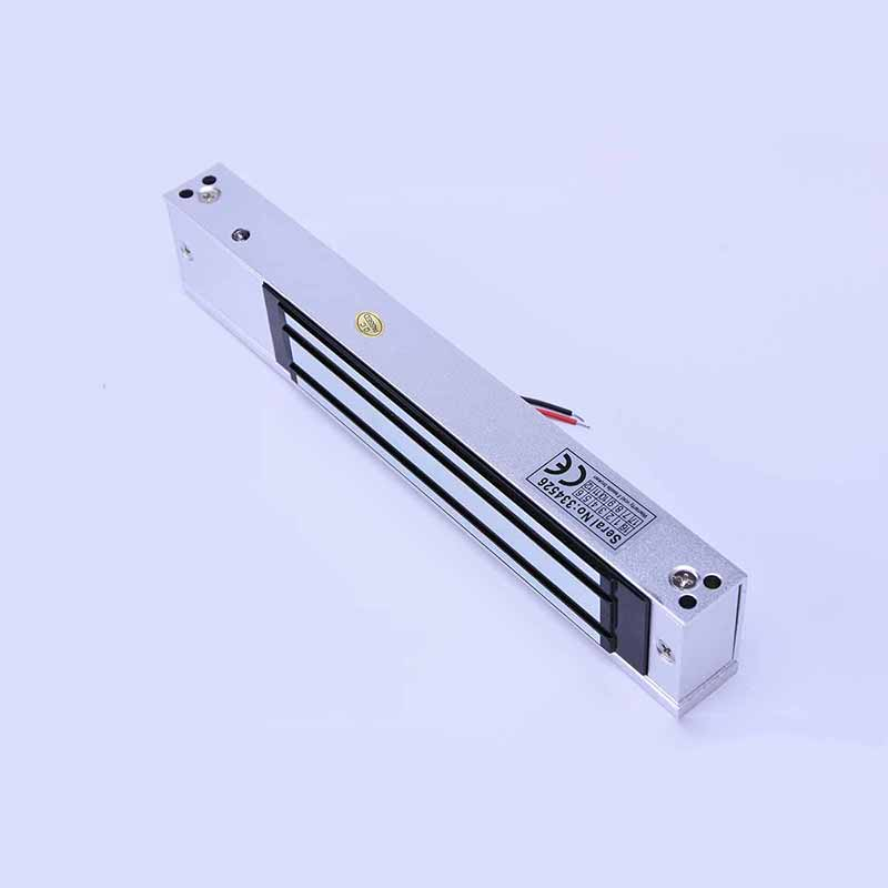 Access Control Single Electric Magnetic Door Lock 280KG 600lbs 12V Electric Lock Holding Force With Timer