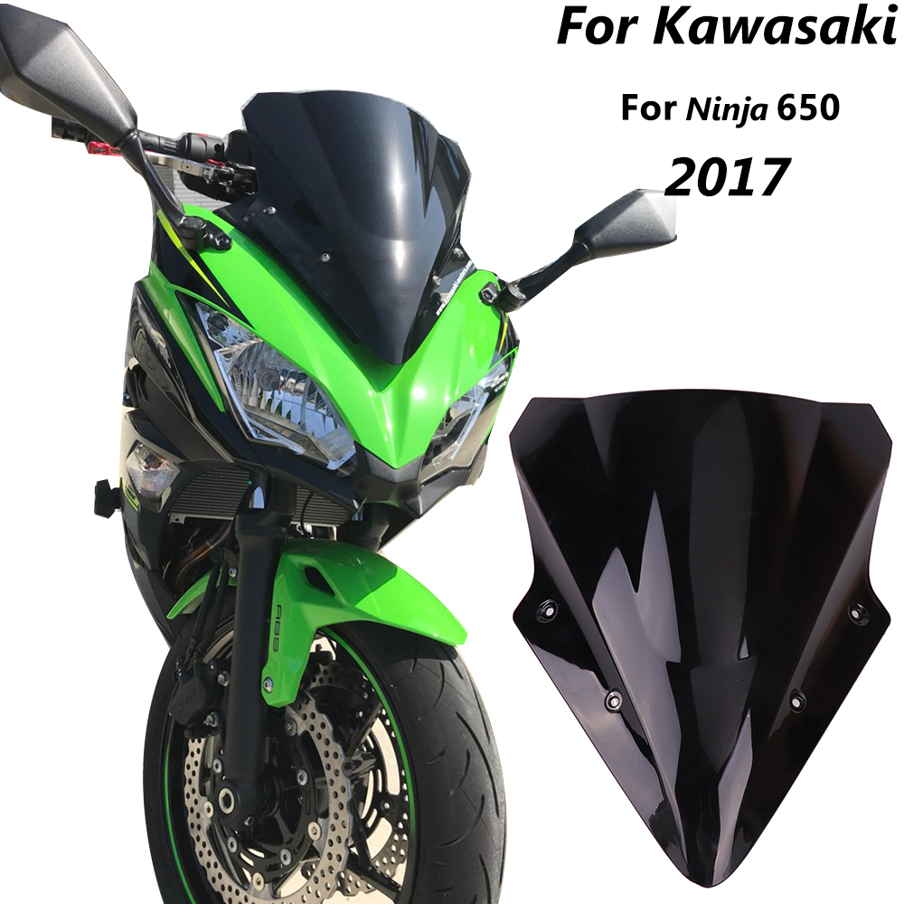 KEMiMOTO Motorcycle Windshield For KAWASAKI Ninja 650 Windscreen For KAWASAKI Ninja650 2017 2018 2019 Motorcycle Accessories