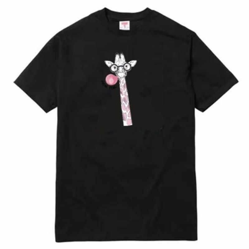 Jalan Ikon Wanita Pakaian Pria 248 Mm Jerapah Berpikir PINK Besi Pada Transfer Printing Patch untuk Pakaian T-shirt Patch 3D stiker