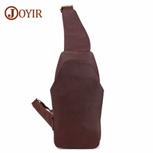 JOYIR Man's Messenger Bag Men Shoulder Genuine Leather Chest Bags Crossbody Business Shoulder Messenger Bags Male Chest Pack 571