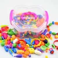Variety Beads Children's Beads DIY Handmade Educational Toys Wireless Beads Toy 300pcs set Plastic