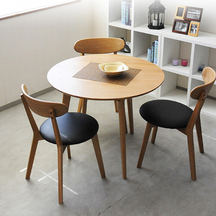 Japanese style round table small apartment minimalist Nordic white ...