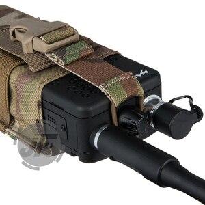 Image 4 - حقيبة راديو ايمرسون التكتيكية MBITR PRC148 152 موكل اسلكي موكي مع جيب ث/مشبك للاغلاق سترة RRV