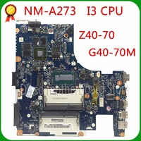 KEFU Z40 70 For Lenovo g40 70m i3 motherboard ACLUA/ACLUB NM A273 Rev1.0 840M/820 with graphics card Test