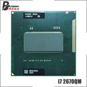 Image 1 - Intel Core i7 2670QM i7 2670QM SR02N 2.2 GHz Dört Çekirdekli Sekiz Konu CPU İşlemci 6M 45W soket G2/rPGA988B