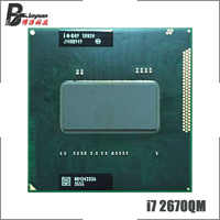 Intel Core i7-2670QM i7 2670QM SR02N 2.2 GHz Quad-Core Eight-Thread CPU Processor 6M 45W Socket G2 / rPGA988B
