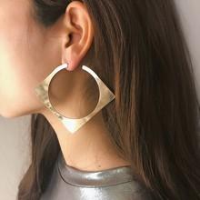 2019 Fashion Statement Earrings Punk Geometric Square Stud Earring Exaggerate Big Round Women Jewelry