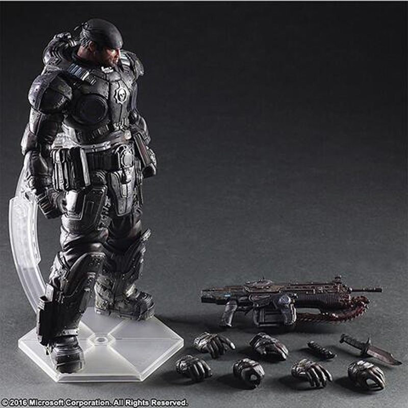 Gears of War Marcus Fenix PVC Action Figure Collectible Model Toy NO BOX майка классическая printio gears of war 2