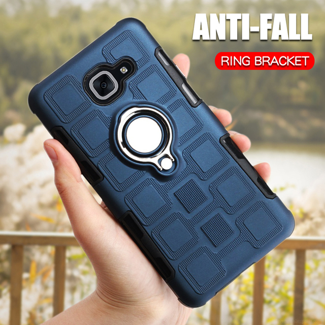 Luxury Armor Case For Samsung Galaxy J7 Max J7 Plus J7 Prime J7 Neo Nxt Core Silicone Phone Back Cover Ring Shockproof Hard Case