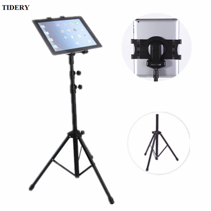 Universal 7-10 inch Tablet Tripod Mount Holder For Lenovo Tab4 Kindle Fire Multi-direction Floor Tablet Stand For Samsung ipad universal tripod mount adapter telescopic cell phone stand holder
