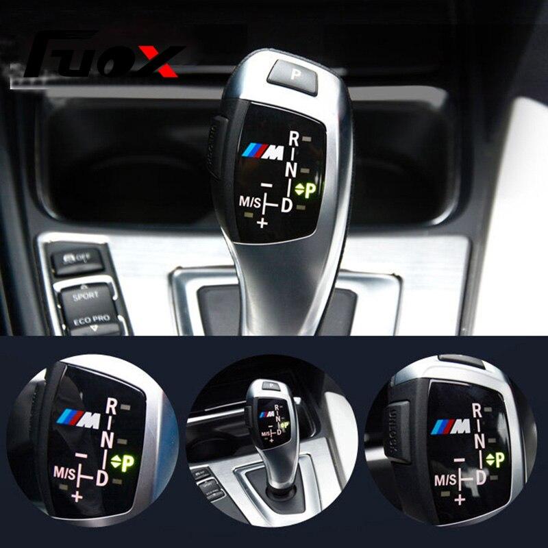 Auto Schaltknauf Panel Abdeckung M Emblem Aufkleber für BMW X1 X3 X5 X6 F30 F35 F10 F18 F11 f07 GT F15 F16 F25 F18 F20 F21 M3 M5 M