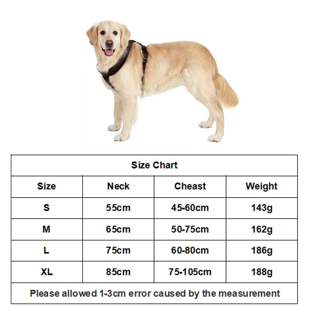 Outdoor Walking Dog Harness Adjustable Velveteen Lining Pet Vest Training Dog Harness For Small Medium And Large Dogs S M L XL