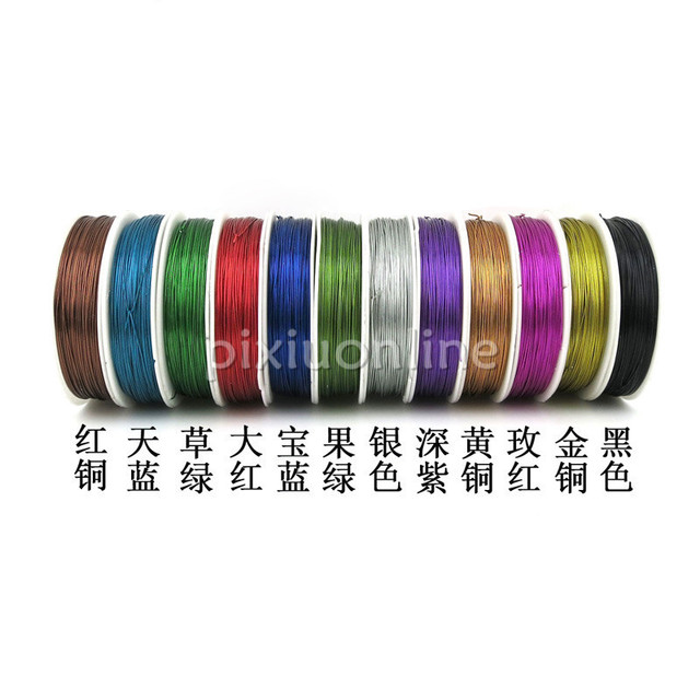 40m/pack J206b Colorful Iron Wire Multi Color Thin Iron Line for DIY ...