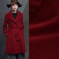 Vin rouge cachemire tissu automne et d'hiver spécial épais manteau laine tissu exportations cachemire tissu en gros cachemire tissu