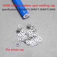 100 unids/lote 14500 tapa de chip de batería de litio se puede ver tapa de Punta 14500 tapa de punta de batería accesorios de batería de litio aprobados