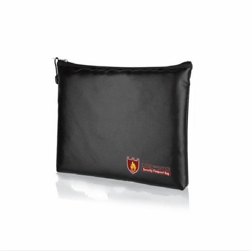 Waterproof Fire Men's Briefcase Black Security Secret File Bag Multi-function Handbag