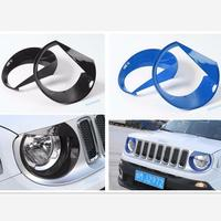 Yimaautotrims Front Head Lights Lamp Cover Ring Trim 2 Pcs Fit For Jeep Renegade 2015 2016 2017 2018 Colorfully Exterior Kit