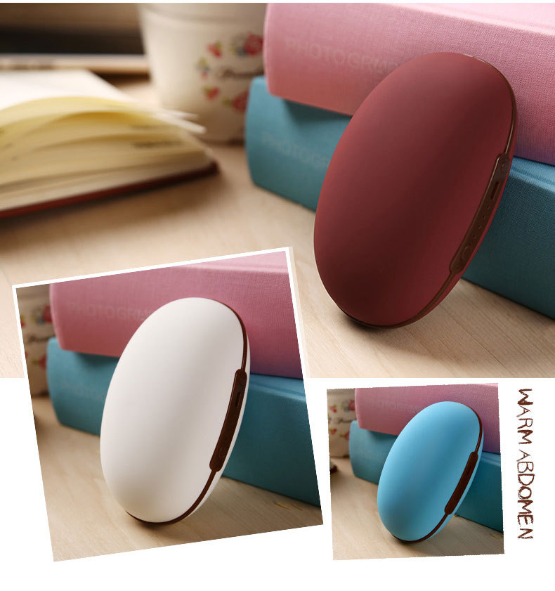 ФОТО Mini Smart  Red Beans Shape 5200mah phone battery charger USB power bank With  Electronic Heater Hand Warmer
