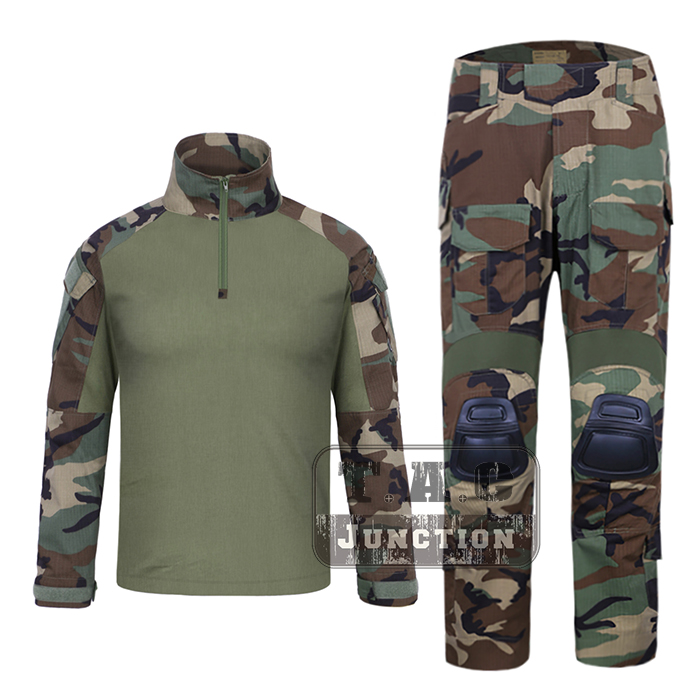 EmersonGear G3 Combat Shirt & Pants WoodLand Tops+Trousers Set Emerson Tactical Military Hunting GEN3 Camouflage BDU Uniform Set emerson navy seals combat set bdu uniform aor1 mc at marpat woodland em6914