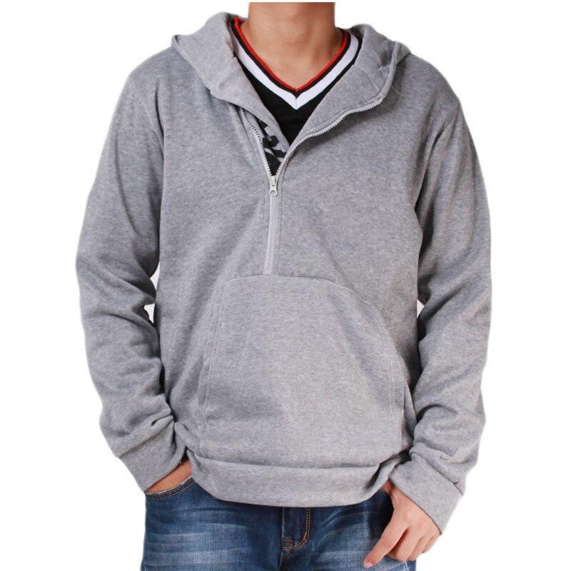 Мужские футбольные майки на молнии с буквенным принтом, мужская верхняя одежда на осень и зиму, мужская спортивная одежда, толстовки для фитнеса, верхняя одежда 4XL - Цвет: Grey