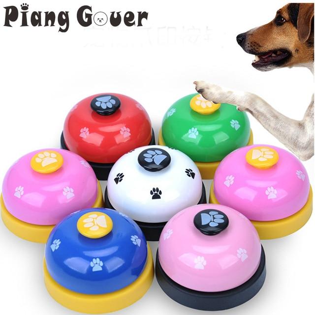 Игрушка для домашних животных обучение под названием ужин маленький колокольчик кольцо с отпечатком ноги игрушки для собак Тедди Щенок Pet Call