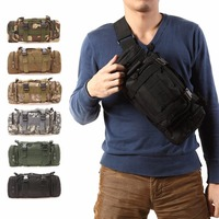 MOLLE Panel 3 Functions Tactical Waist Sport Bag Ultra Light Hunting Soldier Tactical Waist Sport Bag