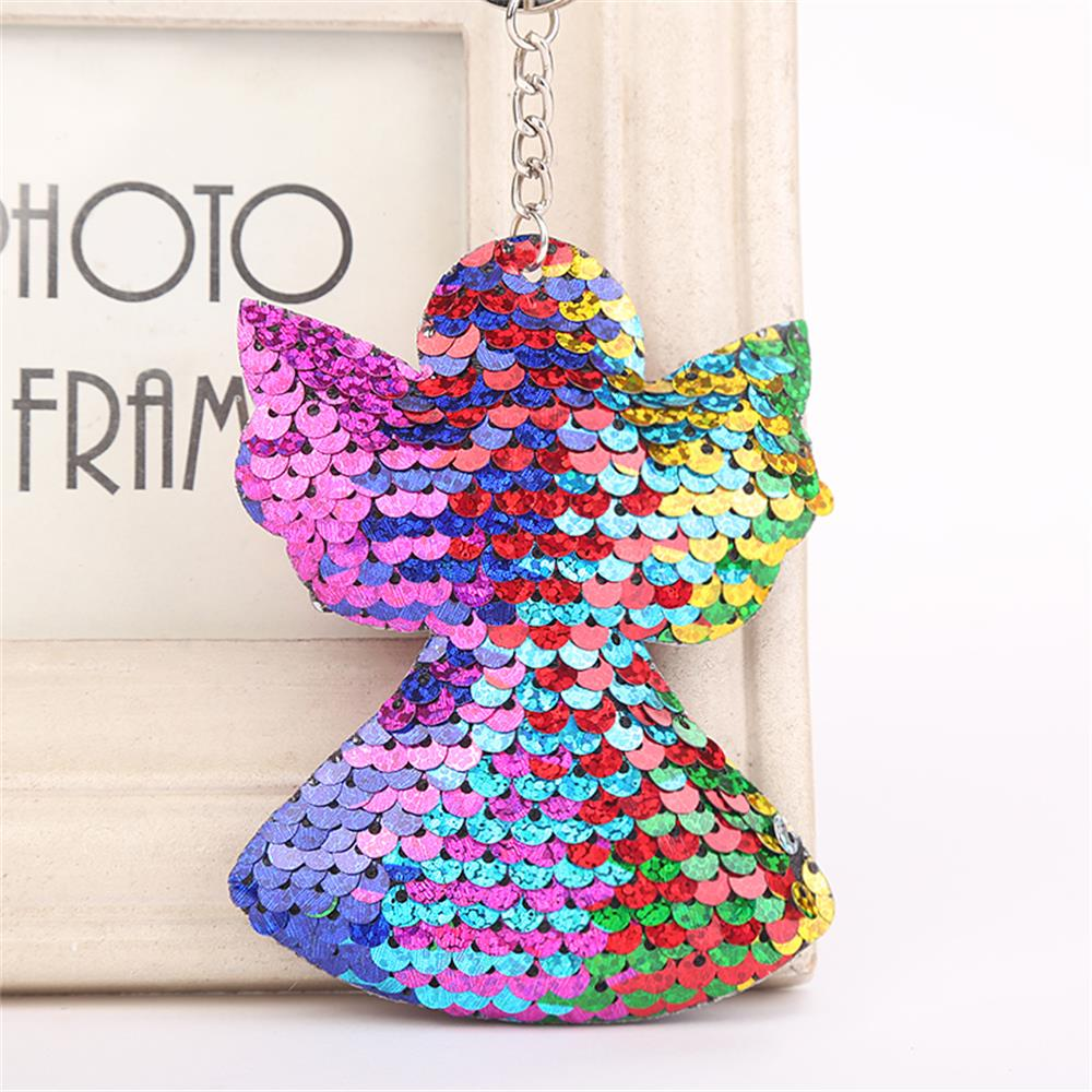 Multicolor Christmas Tree Cactus Mermaid Pattern Sequins Keychain Angel  Keyring Unisex Car Bag Accessories Jewelry Xmas Gift-in Key Chains from  Jewelry ... 8e14c6f64456