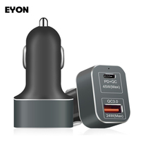 EYON USB C Charger 69W PD QC3 0 Fast Car Charger For IPhone X 8 Plus