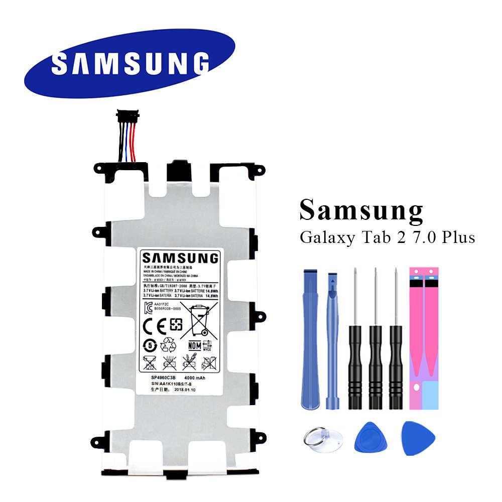 Ban đầu Pin Máy Tính Bảng SP4960C3B Dành Cho Samsung Galaxy Tab 2 7.0/7.0  Plus P3110 P3100 P3113 P6200 P6210 4000 mAh|Mobile Phone Batteries