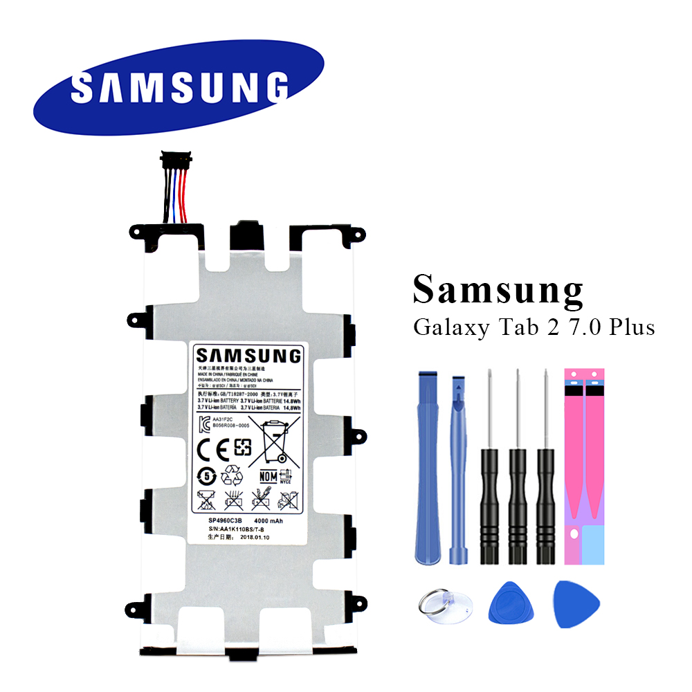 Original Tablet <font><b>Batterie</b></font> SP4960C3B Für Samsung <font><b>Galaxy</b></font> <font><b>Tab</b></font> <font><b>2</b></font> 7,0/7,0 Plus P3110 P3100 P3113 P6200 P6210 4000 mAh image
