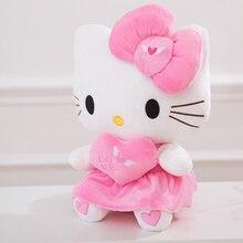 25cm/30cm/40cm Plush cat Pink Dress Soft Hello Kitty Stuffed Doll animal For baby children birthday toys girl decoration gift