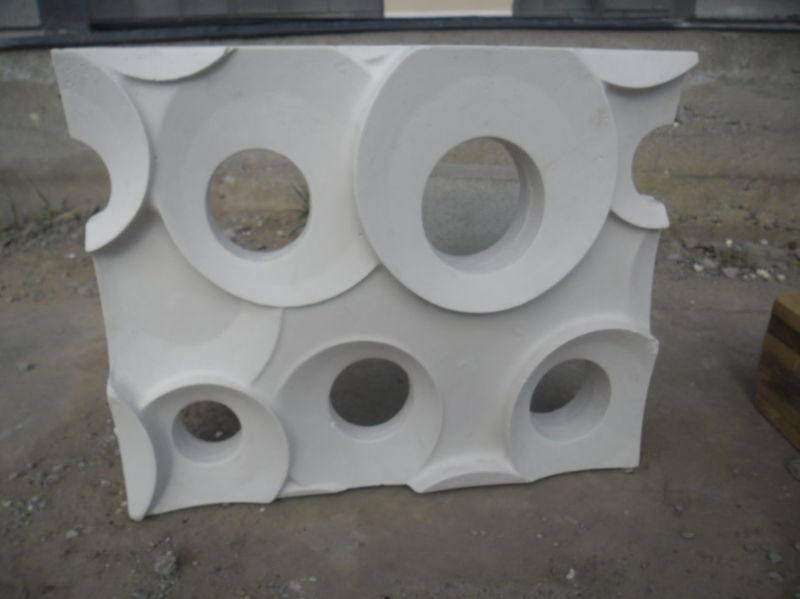 RING 3D Mould for Decorative Wall Block Panels Partition for Plaster Gypsum 2pcs