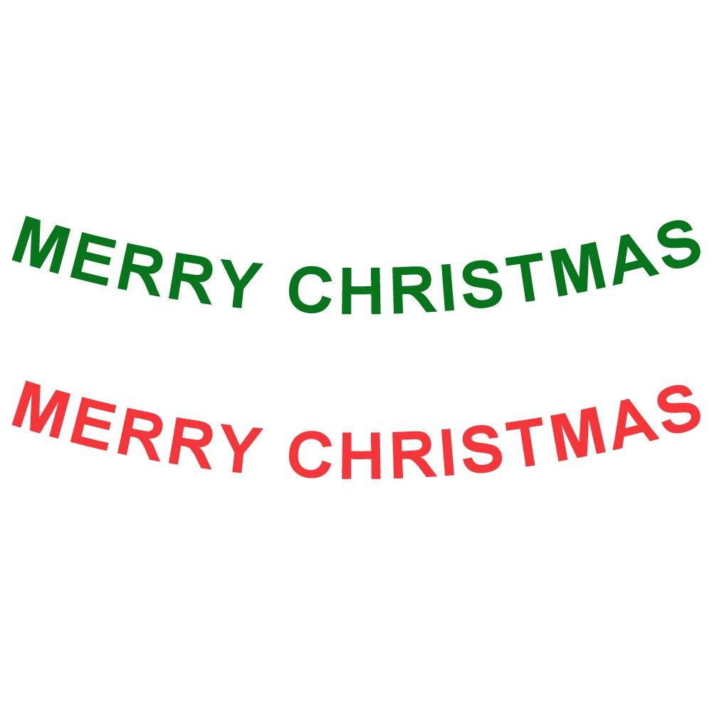 100 set 4 di Colore Lunghezza = 3.2 metro Hollow Lettera Buon Natale Banner Per Il 2018 Festa Di Natale Della Decorazione Lettera del Hight = 13.5 cm - 6