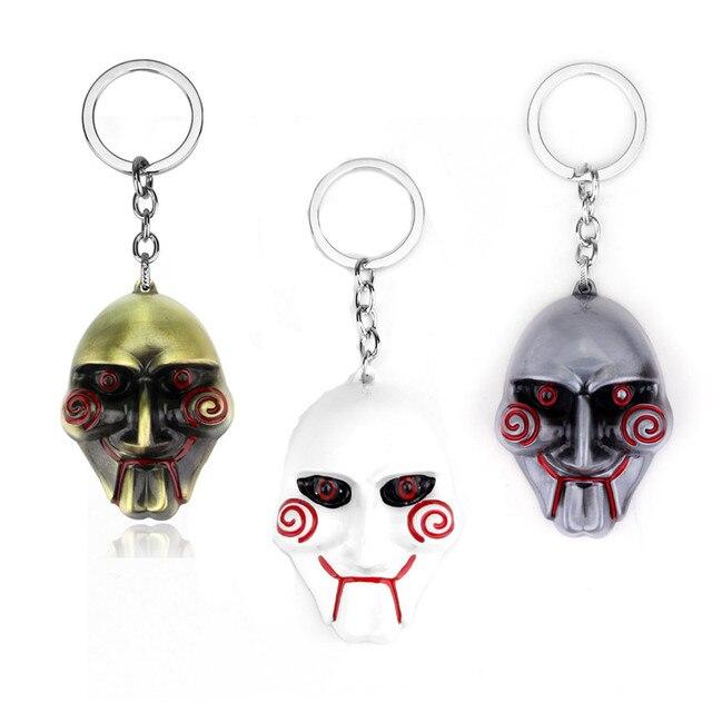 horror film jewelry saw keychain 3d mask keyrings unisex unique