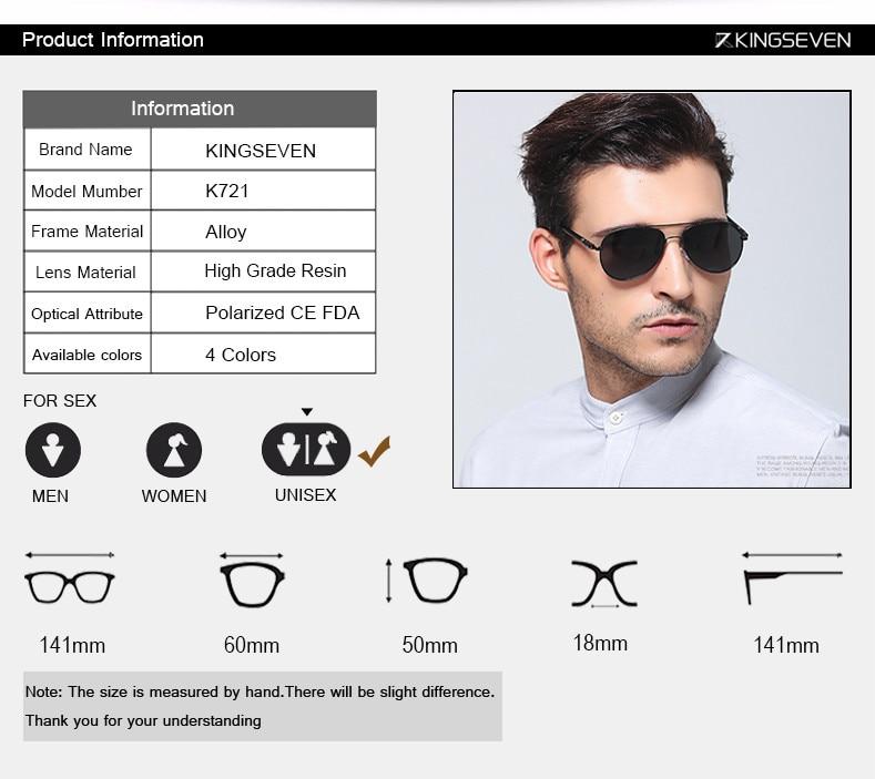 Hot! With 6 Accessories Kingseven Brand Designer Aviator Polarized Sunglasses Men Driving Sport Sun Glasses Women Oculos 2