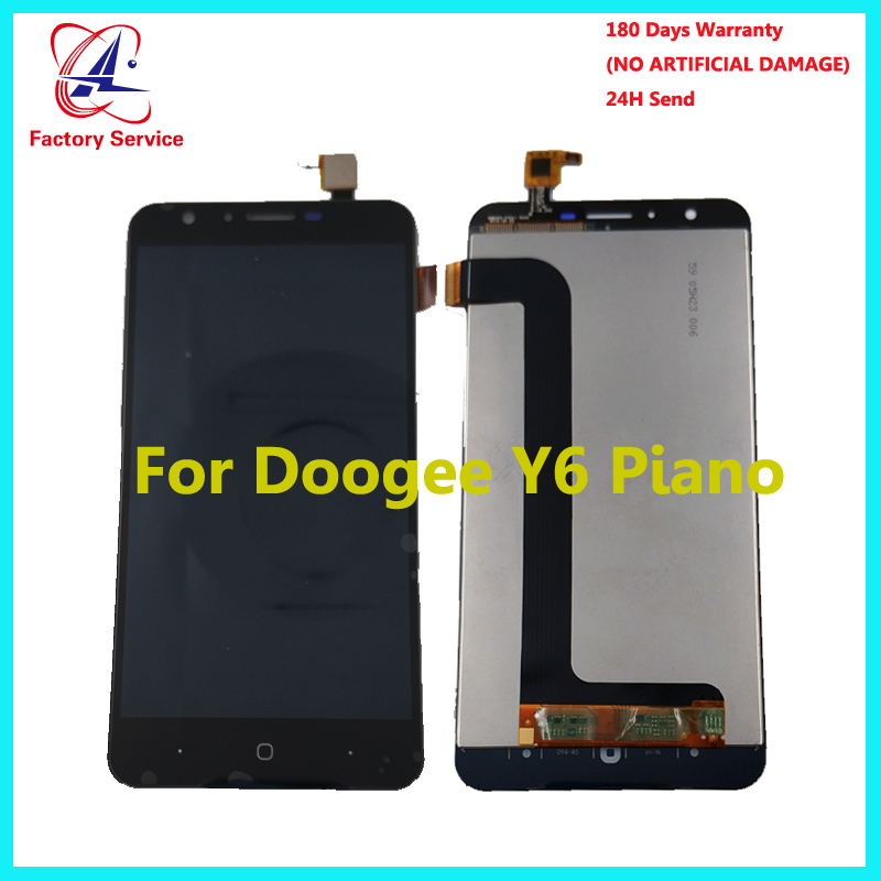 "For DOOGEE Y6 Piano Mobile phone LCD Display +TP Touch Screen Digitizer Assembly +Tools 5.5"" 1280x720 Repair Parts+Tools stock(China)"