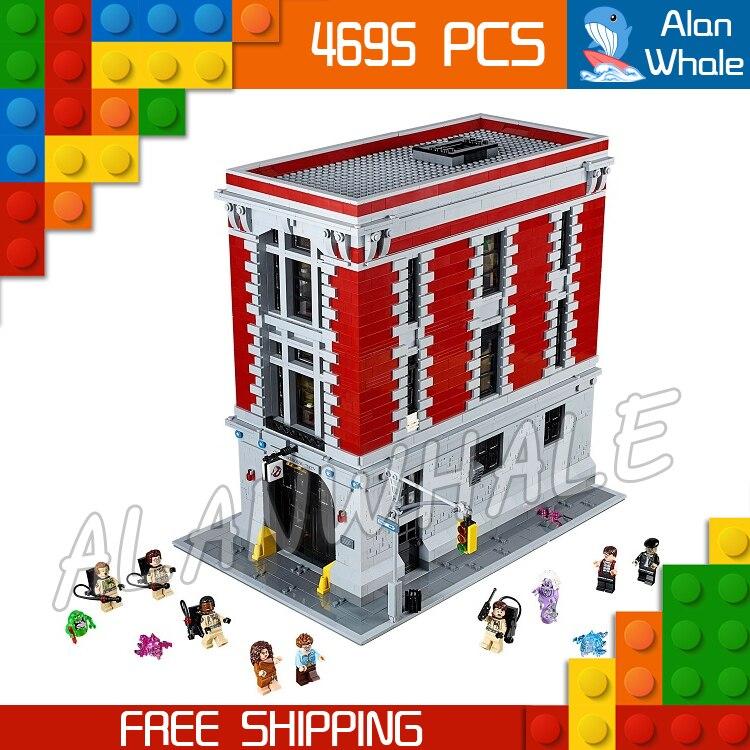 4695 шт. Охотники за привидениями Firehouse штаб квартира большой дом пожарная станция модель здания Наборы блоки детские игрушки, совместимые с