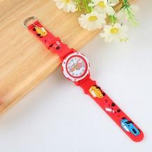 Reloj de los niños de la historieta 3D reloj de cuarzo creativo de goma niños reloj de fútbol animal fruta deportes niñas niños reloj Relogio Feminino