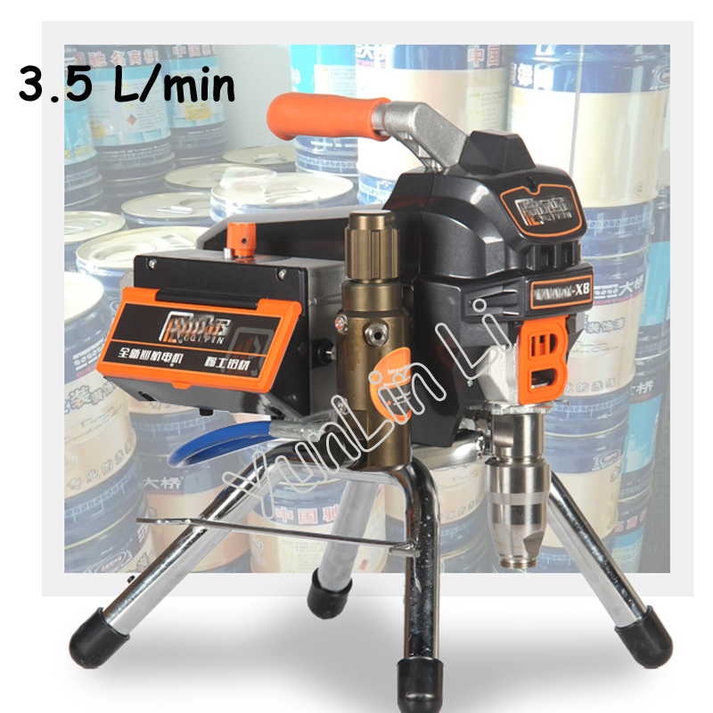 цена на 3.5L Airless Paint Sprayer X8 Professional Airless Spray Gun 23MPA 3500W 220V High Pressure Airless Painting Machine Spraying
