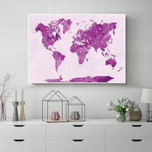 купить Laeacco Watercolor World Map Posters Graffiti Pop Art Canvas Paintings On Wall Abstract Map Pictures For Living Room Home Decor по цене 302.93 рублей