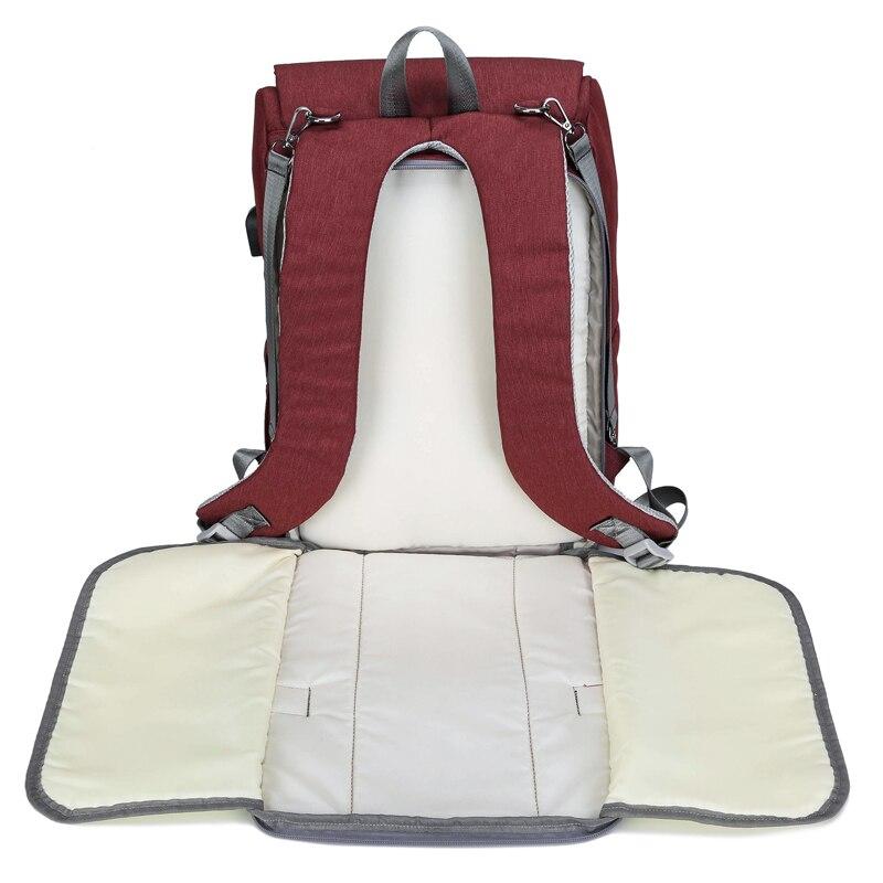 Bolsa de pañales con interfaz USB gran bebé pañal bolsa de momia maternidad mochila de viaje para mamá de bolsas - 6