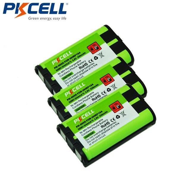 3個ホームコードレス電話バッテリー850mah 3.6vニッケル水素パナソニックHHR P104 HHR P104A pkcell