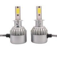 1 пара C6 H3 автомобиль светодиодные фары лампа фары заменить Ксеноновые фары 4000lm 12-24 В 80 Вт 6000 К белый свет Новое поступление