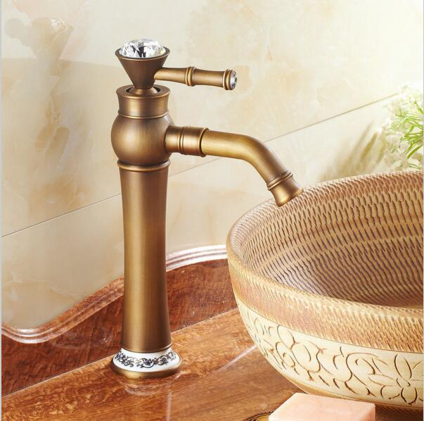 Bathroom Faucets Gold Finish aliexpress : buy diamond bathroom faucets,gold finish basin