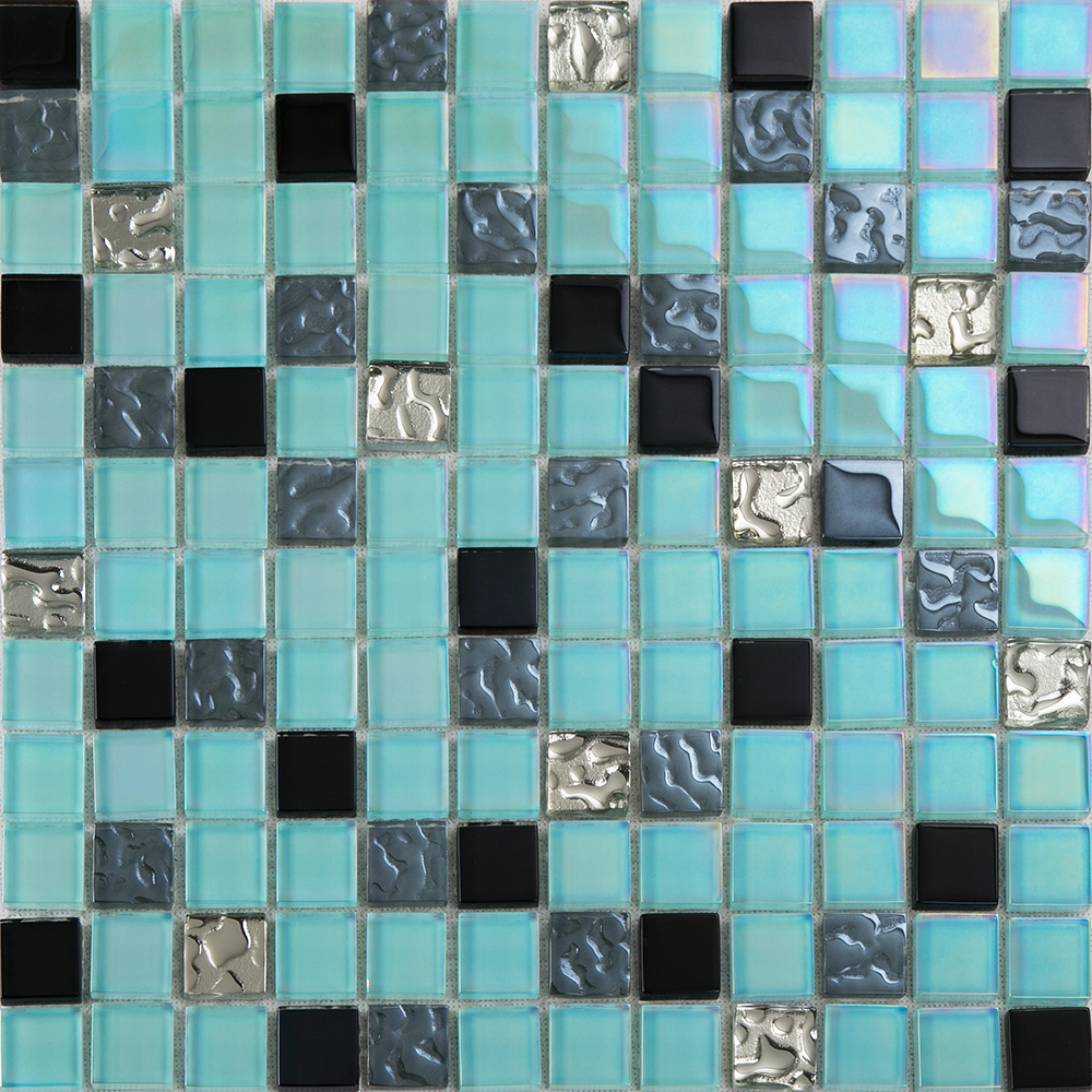 ∞crystal glass plated Eastern Mediterranean tile mosaic HMGM1142 ...
