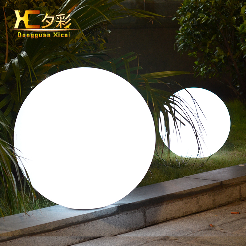 25cm chargeable cordless waterproof lawn ball outdoor - Remote control exterior lighting ...