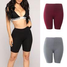 Модные новые женские повседневные шорты для фитнеса с высокой талией, быстросохнущие обтягивающие велосипедные шорты, 3 цвета, высокое качество