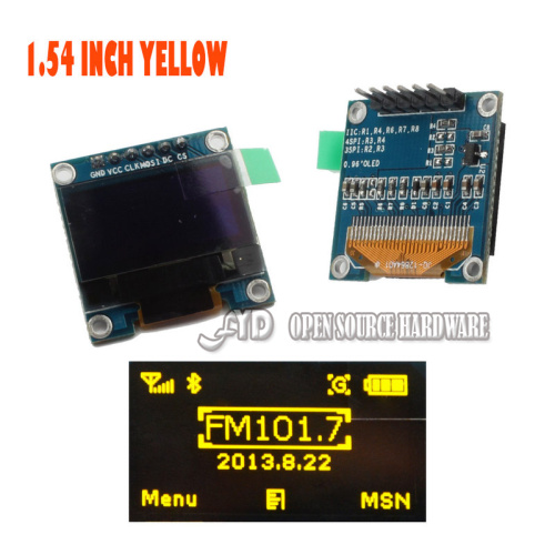 1.54 inch I2C IIC SPI Serial 128X64 yellow OLED LCD LED Display Module for Arduino